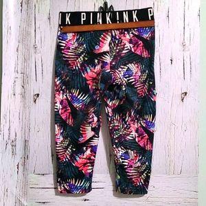 🔥VS Pink Ultimate Abstract Capri Legging